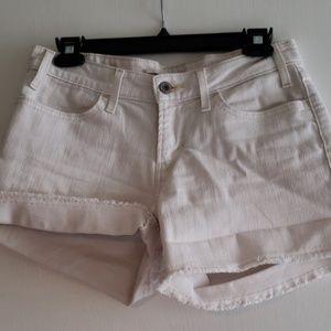 Levi Strauss & CO white cut off shorts